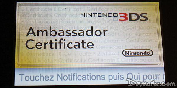 comment avoir le certificat d ambassadeur 3ds
