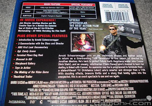 Blu Ray Terminator 3 et Braquage à L'Italienne
