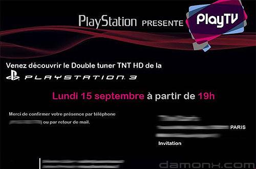 PlayStation Invitation Présentation Play TV