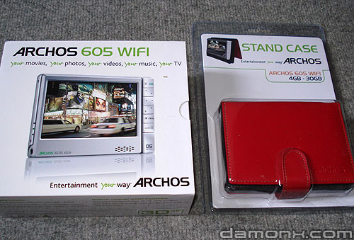 Archos 605 Wifi 30 Go + Stand Case