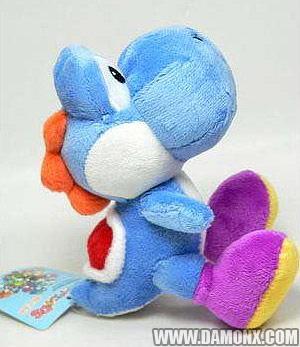 peluche yoshi bleu