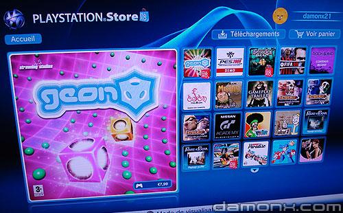 Mise à Jour PS Store 25 Septembre 2008