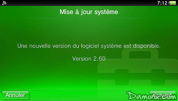 PS Vita – Mise à Jour Firmware 2.60