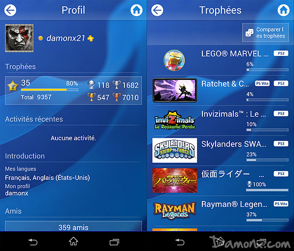 Application Mobile PlayStation