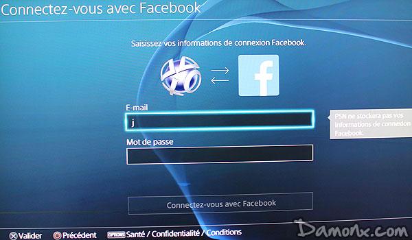 facebook sur ps4