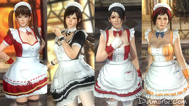 [Photos] Dead or Alive 5 Ultimate : Costumes de Maids Sexy