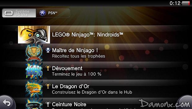 148 Trophée Platine : LEGO Ninjago : Nindroïds