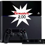 PS4 – Mise à Jour Firmware 2.00