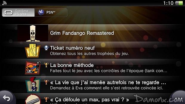 152e Trophée Platine : Grim Fandango Remastered