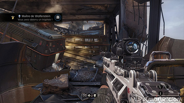 155e Trophée Platine : Wolfenstein : The New Order sur PS4