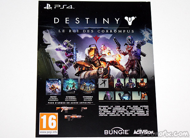[Unboxing] Destiny : The Taken King (Le Roi des Corrompus) Limited Edition PS4