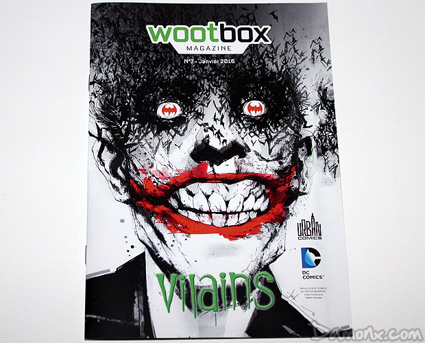 [Unboxing] Wootbox #8 Janvier 2016 : Vilains